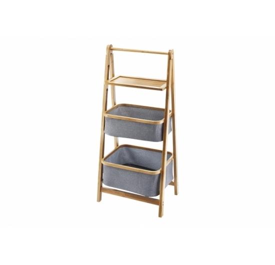 Badregal mit Körbe u. Ablage Bambus - Produkte - Locker B2B-Shop