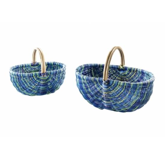 rattankorb multicolor blau s 2 produkte locker b2b shop. Black Bedroom Furniture Sets. Home Design Ideas
