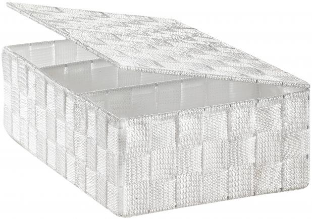 regalkorb mit deckel nylon wei produkte locker b2b shop. Black Bedroom Furniture Sets. Home Design Ideas