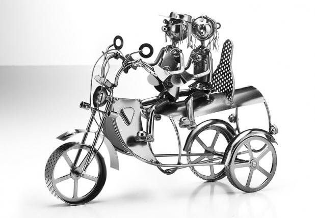 flaschenhalter motorrad aus metall weinregale. Black Bedroom Furniture Sets. Home Design Ideas