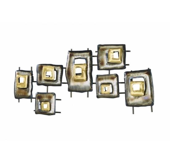 Wanddeko Metall Rechtecke silber/gold - Produkte - Locker ...