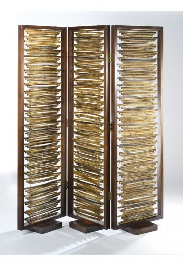 paravent 3 teilig aus bambus mit holzrahmen trennwand. Black Bedroom Furniture Sets. Home Design Ideas